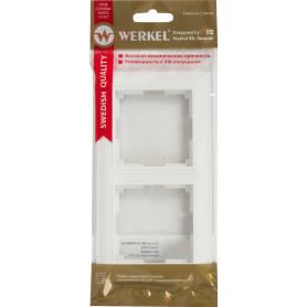 Рамка для розеток и выключателей Werkel Fiore 2 поста, цвет белый