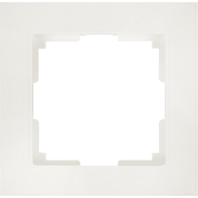 Рамка для розеток и выключателей Werkel Flock 1 пост, цвет белый