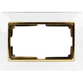 Рамка Werkel Snabb, 2 поста, цвет белый/золото