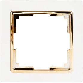 Рамка Werkel Snabb, 1 пост, цвет белый/золото