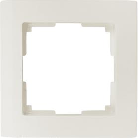 Рамка для розеток и выключателей Werkel Stark 1 пост, цвет белый