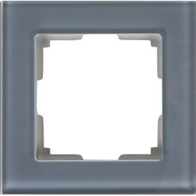Рамка Werkel Favorit, 1 пост, стекло цвет серый