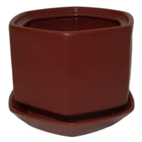 Горшок цветочный «Меркурий» D13, 1л., керамика, Красный