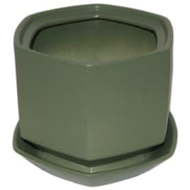 Горшок цветочный «Меркурий» D18, 1, 7л., керамика, Зеленый