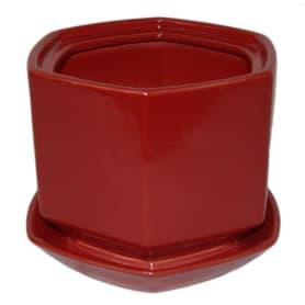 Горшок цветочный «Меркурий» D18, 1, 7л., керамика, Красный