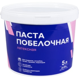 Паста побелочная латексная цвет белый 7.6 кг 5 л