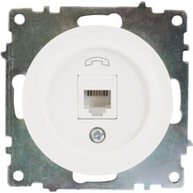 Телефонная розетка встраиваемая Onekey Florence RJ11, цвет белый