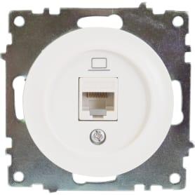 Розетка компьютерная RJ45 Florence кат.5е цвет белый