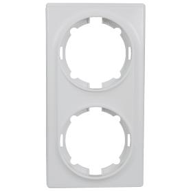 Рамка Onekey Florence, горизонтальная, 2 поста, цвет белый