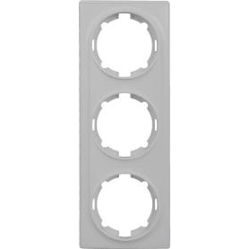 Рамка Onekey Florence, горизонтальная, 3 поста, цвет белый