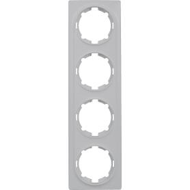 Рамка Onekey Florence, горизонтальная, 4 поста, цвет белый