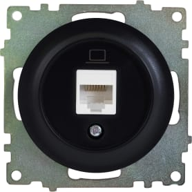 Розетка компьютерная RJ45 Florence кат.5е цвет чёрный