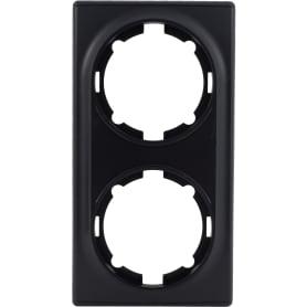 Рамка для розеток и выключателей Onekey Florence 2 поста, цвет чёрный