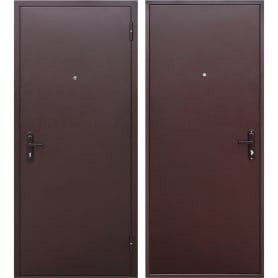 Дверь входная металлическая Стройгост 5, 960 мм, правая, цвет металл