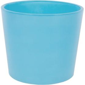 Кашпо, 1.1 л, 14.5 см, стекло, цвет голубой