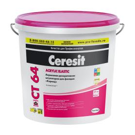 Штукатурка декоративная Ceresit СТ 64 Colorado 2, эффект короед, 25 кг
