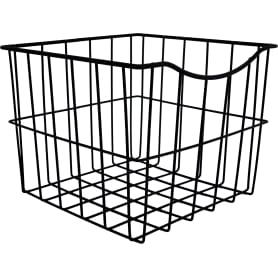 Корзина для белья в шкаф, 25х25х20 см, цвет чёрный