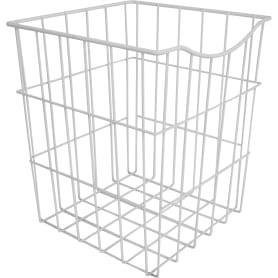 Корзина для белья в шкаф, 25х25х30 см, цвет белый