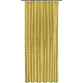 Штора на ленте «Alessia», 140х260 см, абстракция, цвет жёлтый
