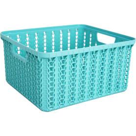 Корзинка для хранения «Вязание», 1.5 л, цвет морская волна