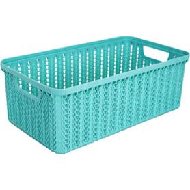 Корзинка для хранения «Вязание», 3 л, цвет морская волна