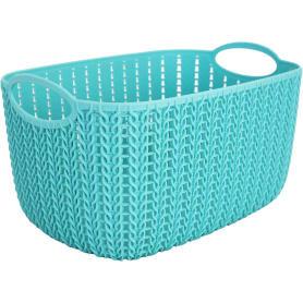 Корзинка для хранения «Вязание», 4 л, цвет морская волна
