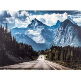 Картина на досках «Горы» 60х80 см