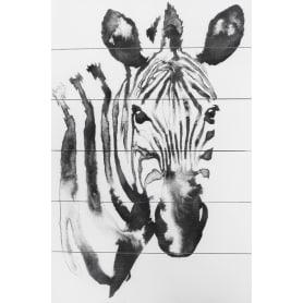 Картина на досках «Голова зебры» 40х60 см