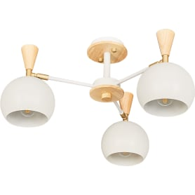 Люстра потолочная Morilla L1161-3, 3 лампы, 6 м², цвет белый
