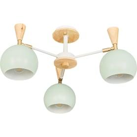 Люстра потолочная Morila, 3 лампы, цвет зеленый