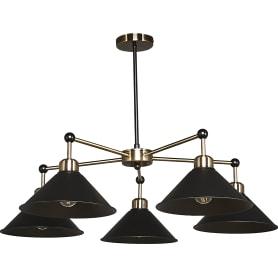 Люстра подвесная Lamplandia Harsh L1100-5, 5 ламп, 15 м², цвет чёрный
