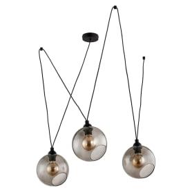 Светильник подвесной Lighting Pobo 1981, 3 лампы, 14 м², цвет чёрный дымчатый