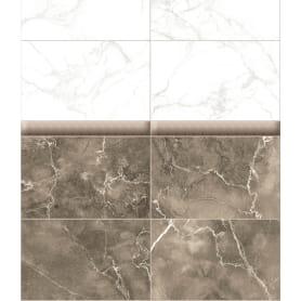 Комплект панелей ПВХ Темно-бежевый Мрамор 8 мм 2700х375 мм 2.025 м² 2 шт