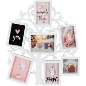 Рамка для 7-ми фотографий «Древо жизни», цвет белый