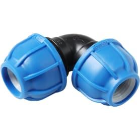 Отвод обжимной, 25х90 мм, полиэтилен