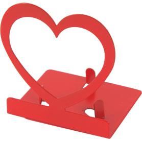 Подсвечник для чайной свечи «Сердце» цвет красный