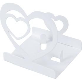 Подсвечник для чайной свечи «Сердце» цвет белый