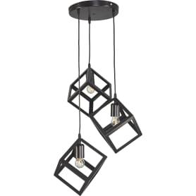 Светильник подвесной Трио, 3 лампы, 9 м² цвет чёрный