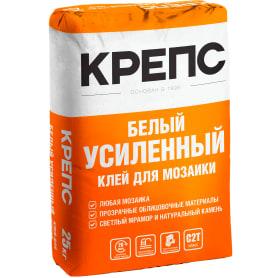 Клей для керамогранита Крепс «Усиленный», 25 кг, цвет белый