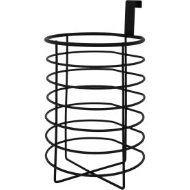 Органайзер для туалетной бумаги Ferro 2 рулона, сталь, цвет чёрный