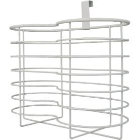 Держатель для дополнительных рулонов бумаги Ferro, 26 см, сталь, цвет белый