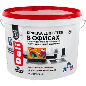 Краска для стен в офисах акриловая Dali база А цвет белый 10 л