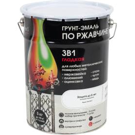 Грунт эмаль по ржавчине  3 в 1 гладкая Dali Special цвет белый 5 кг