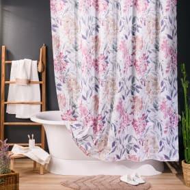 Штора для ванны Bonsoir, 180х200 см, полиэстер, цвет фиолетовый/розовый