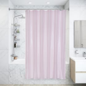 Штора для ванны Brillar pink, 180х200 см, полиэстер, цвет розовый