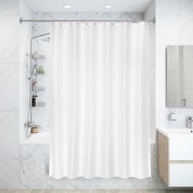 Штора для ванны Silver Rain, 180х200 см, полиэстер, цвет белый/серебряный