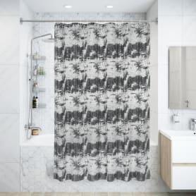 Штора для ванны Old Time, 180х200 см, полиэстер, цвет серый/серебряный