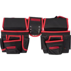 Сумка-пояс двойная 20 карманов Matrix, 290×240 мм, полиэстер, цвет чёрный/красный