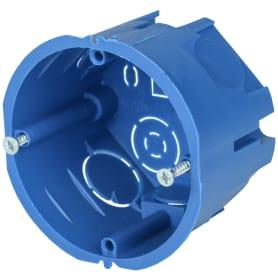 Подрозетник одноместный IEK для твёрдых стен 68х45 мм цвет синий