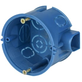 Коробка установочная одноместная IEK для твёрдых стен 68х45 мм цвет синий
